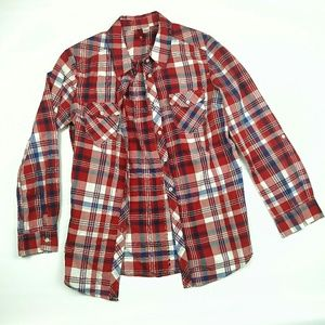 H&M Devided plaid long sleeve shirt sz.6 S/M